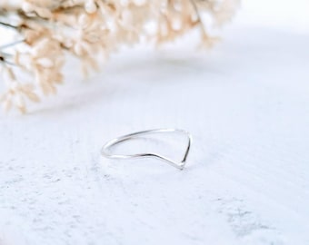 Minimalist Sterling Ring | Stackable Ring | Dainty Ring | Sterling Ring | Gift For her | Gift for Mom | Gift for Wife | Sterling Silver Ring