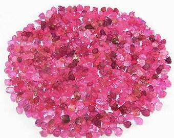Pink Sapphire gemstone pieces  - tumbled raw rough stone crystal  - heated - tiny pebble chip sand bright light pink - orgone corundum *C3