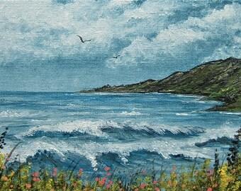 acrylic seascape art painting (ref E180)