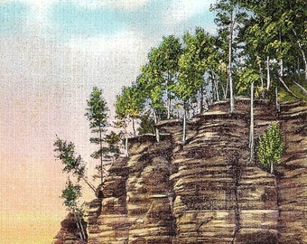 Wisconsin Dells, Wisconsin, The Palisades - Vintage Postcard - Postcard - Unused (G)