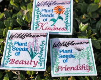 Three Seed Packet Envelopes with a Special Saying (No Seeds inserted)