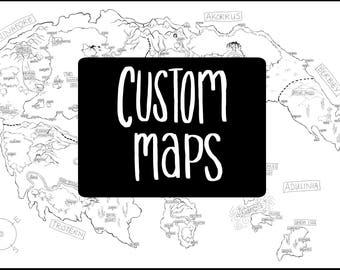 Custom Map Design for Writers