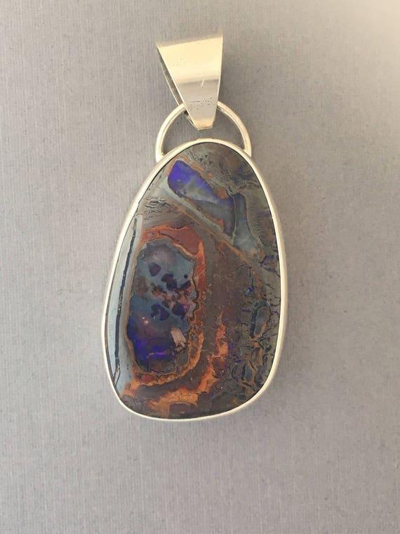 Large boulder opal pendant