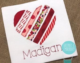 Heart Applique Shirt / Girl Valentine Shirt / Girl Heart Shirt / Toddler Valentine Shirt / Personalized Valentine Shirt / Valentine Outfit
