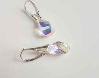 Helix, Swarovski Earrings, Sterling Silver,  Lever Back