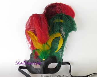 Black Mask, Red Mask, Feather Masks, Masquerade Masks, Masquerade Ball Mask, Feather Masquerade Mask, Masquerade Mask, Venetian Mask