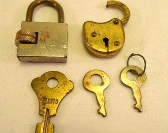 Lot de 5 serrures Vintage petites touches pour bijoux Steampunk