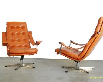 Vintage sixties Lounge armchairs/Artifort/Geoffrey Harcourt/1960s