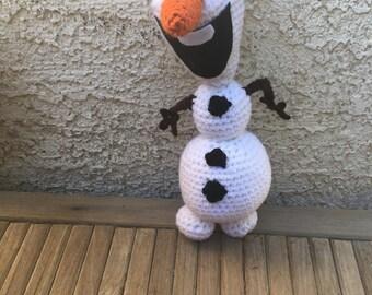 Olaf Inspired Amigurumi Doll
