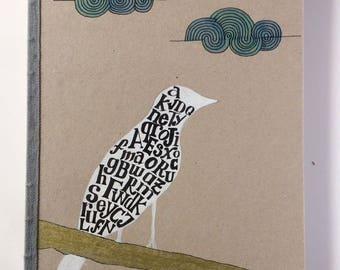 Cahier A5 fait à la main avec une illustration originale