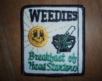 Weedies - Breakfast of Head Starters - Patch - Vintage - Collectibles
