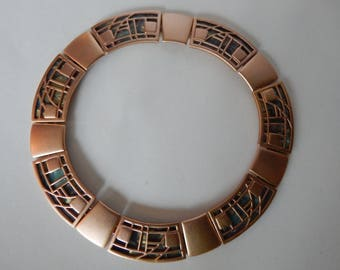 MONET Stained Glass Collar Necklace - Awesome