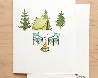 Valentine Card Camping