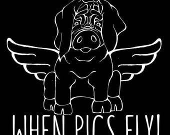 Meishan- - When Pigs Fly Decal