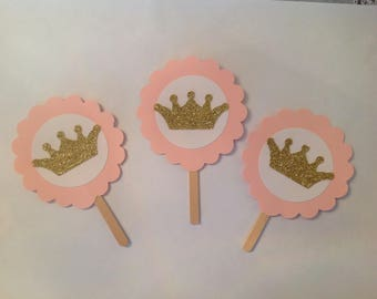 Princess Crown Cupcake Topper