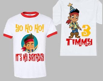 Jake and the Neverland Pirates Shirt - Disney Jake Birthday Ringer Shirt