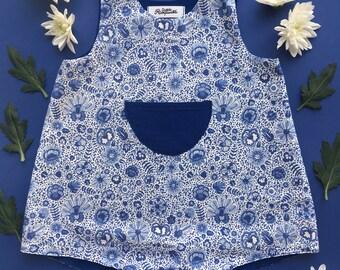 Romper - Delft Blue