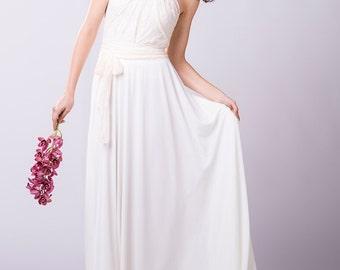 White lace wedding dress, wedding dress, white lace dress, halter bridal gown, long white wedding dress, halter bridal gown, rustic wedding