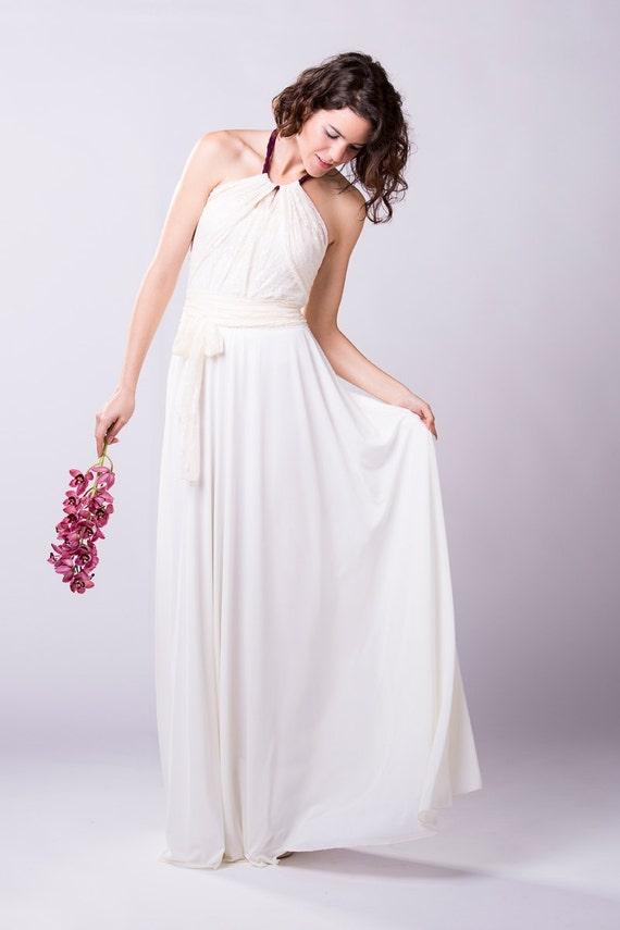 Spitze Brautkleid Neckholder Spitze Brautkleid weißes