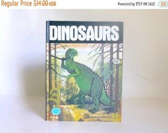 Sale - Vintage c. 1976 Children's DINOSAURS Illustrated Book