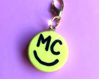 Miley Cyrus smiley polymer clay charm