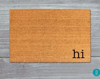 Hi Doormat, Hi Door Mat, Hi Welcome Mat, Doormat, Door Mat, Welcome Mat, Handmade Doormat, Painted Doormat, Painted Door Mat, Hi
