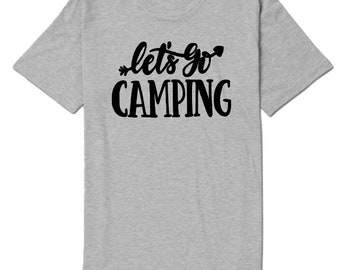 Let's Go Camping Camper Outdoor Nature Unisex T Shirt Many Sizes Colors Custom Gift Jenuine Crafts