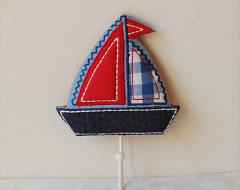 Quilted Sailboat Wall Hook