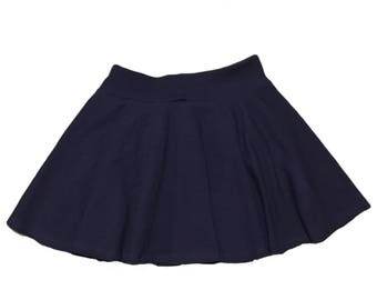 Navy Skirt (Blue Skirt,Baby Skirt,Toddler Skirt,Kids Skirt,Girls Skirt,Dance Skirt,Ballet Skirt,Twirl Skirt,Circle Skirt,Skater Skirt)