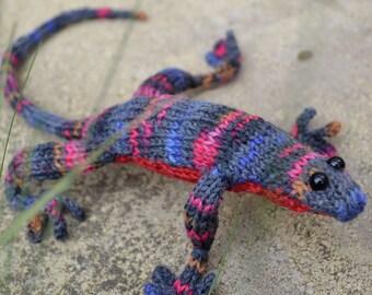 Lizard Knitting Pattern