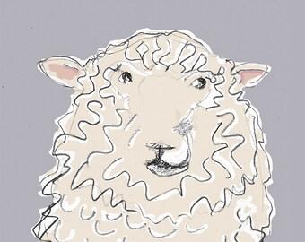 Woolly Sheep Card