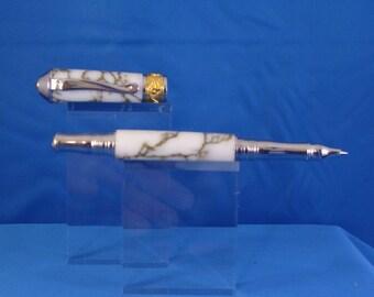 Beautiful! Custom made tru-stone rollerball pen.