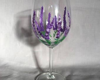 Lavender Wine Glass