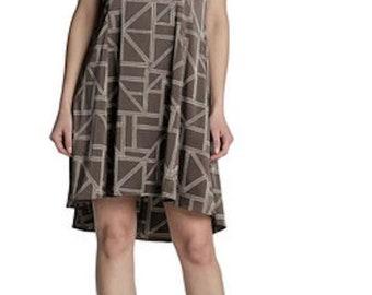 Brown Knee Length Dress