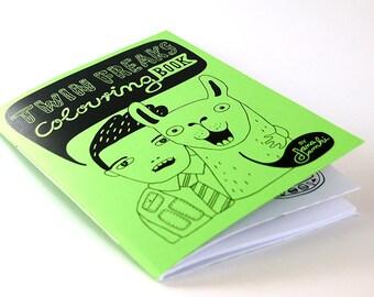 TWIN FREAKS Colouring Book - by danadamki, GREEN