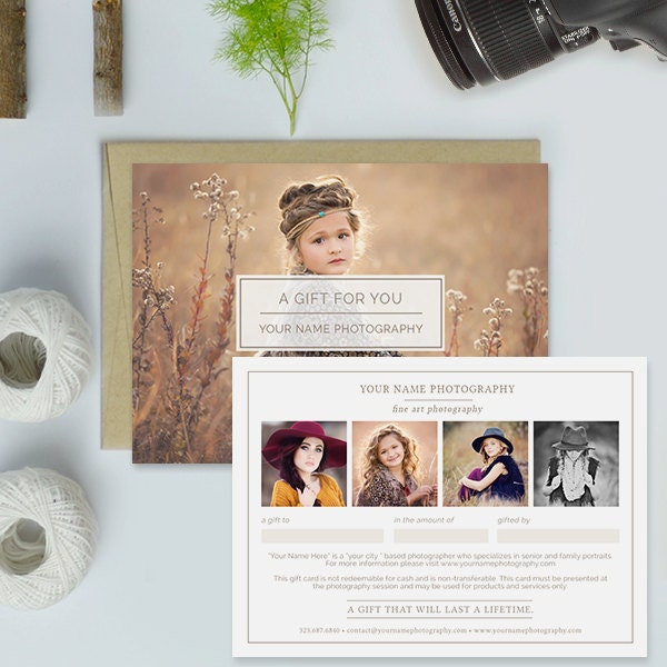Photography studio gift certificate template photography gift zoom yelopaper Image collections