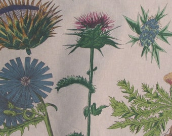 THISTLE by Design Legacy botanical screenprint fabric