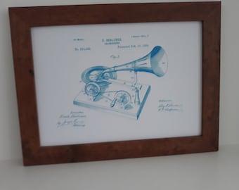"Vintage ""Gramophone"" Patent Print Gift"