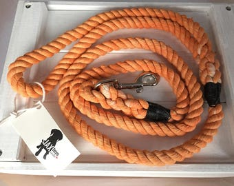 Pale Orange Cotton Rope Leash