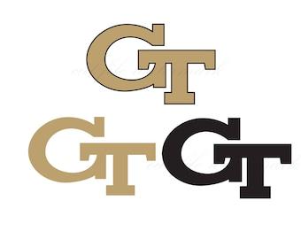 Georgia Tech Cut Files SVG & Studio 3 File for Silhouette Brother Cricut Cutouts Decals SVGs Cutout Decal U Logos Logo Football College Team
