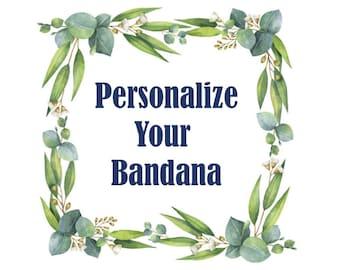 Add Personalization to Dog Bandana