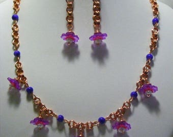 Flower Chain Maille Jewellery Set