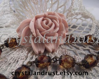 2 Matte French Roses ( Vintage Pale Pink ) --- RES 21
