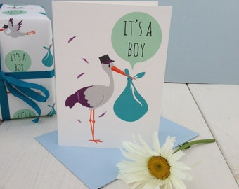 It's a Boy Card - new baby card