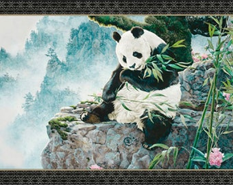 "IMPERIAL PANDA Panel from Quilting Treasures - 24"" x 44"" - item #24978-X"