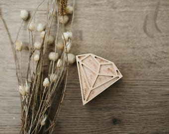 Diamond stamp, diamond pattern, craft tools, craft supplies, textile stamp, soap stamp, scrapbooking stamp, ceramics stamp, wooden stamp