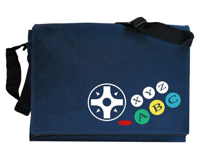 Sega Saturn Joypad Controller Buttons Navy Blue Messenger Shoulder Bag