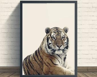 Tiger Print, Photography, Nursery Decor, Safari Animal, Safari Wall Art, Printable Safari Art, Nursery Safari Decor