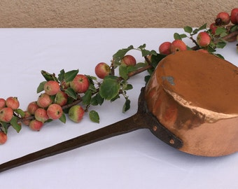French antique copper saucepan