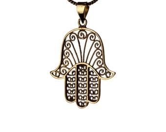 Hamsa Necklace Hand of Fatima Evil Eye Jewellery Protection Jewellery Pendant Handmade Free UK delivery Gift Boxed + Gift Bag BP3